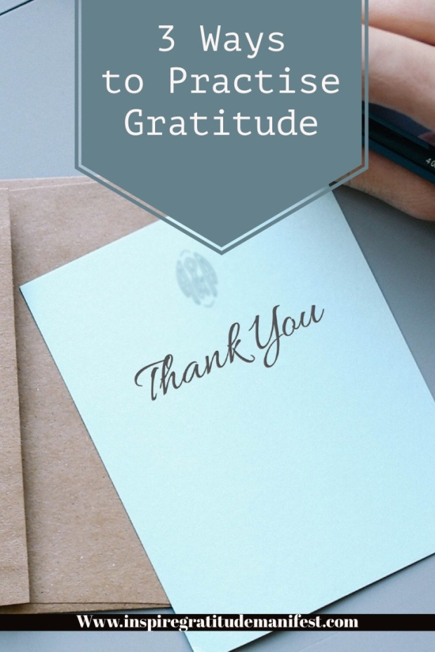 Thank You Card, 3 Ways to Practise Gratitude Daily Blog Post